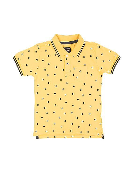 b0c0c3de0 Buy Boys Boys Printed Short Sleeve Polo Shirt online at NNNOW.com