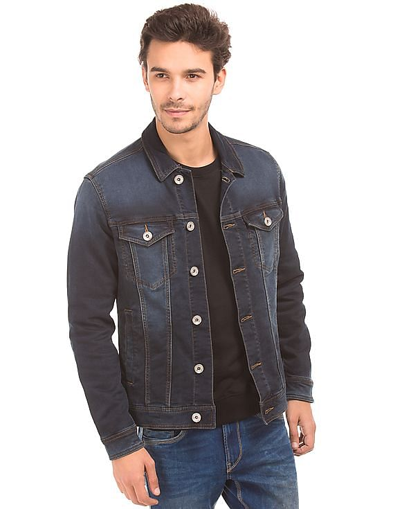 f17a48ab2b8d Buy Men Slim Fit Denim Jacket online at NNNOW.com