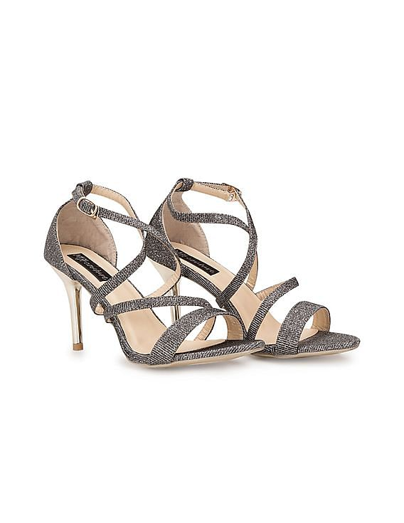 Women Footwear Under Rs.999 | MFT COUTURE  Grey Glitter Stilettos By NNNOW @ Rs.910