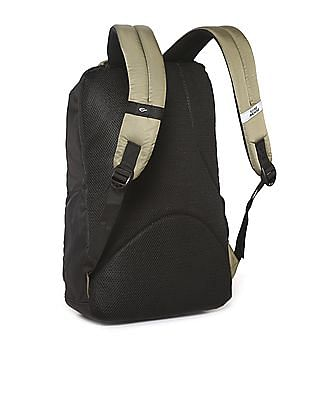 Flying Machine Colour Block Padded Laptop Backpack