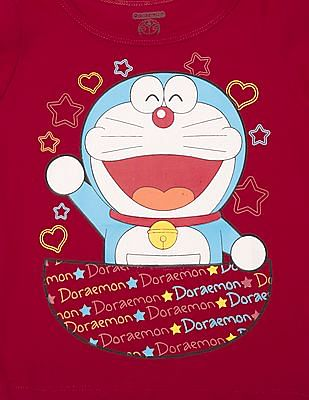 Colt Girls Doraemon Print Cotton Top