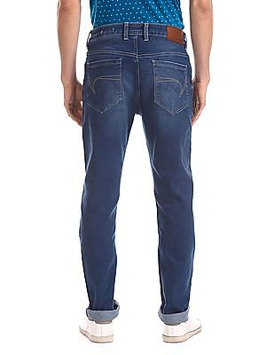 Cherokee Blue Slim Fit Washed Jeans