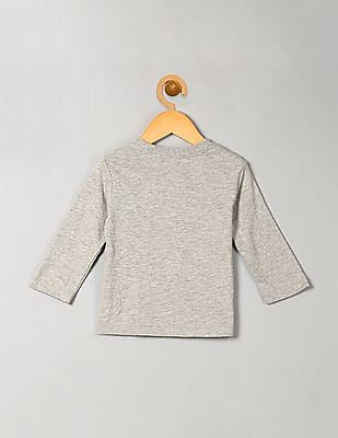 GAP Baby Grey Graphic Long Sleeve Tee