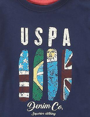 U.S. Polo Assn. Kids Boys Printed Crew Neck T-Shirt