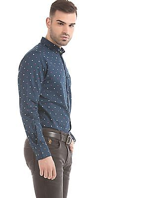 U.S. Polo Assn. Denim Co. Polka Print Slim Fit Shirt