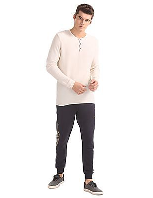 Ed Hardy Slim Fit Henley Neck Sweater