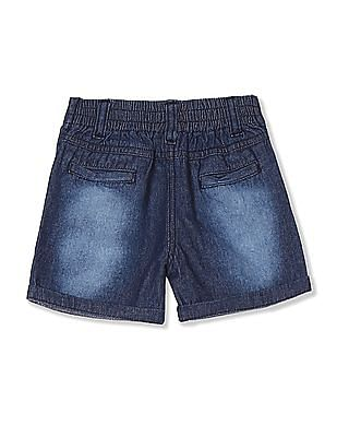 Donuts Blue Girls Embroidered Denim Shorts