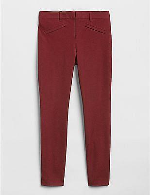 GAP Women Red Bi-Stretch Signature Skinny Ankle Pants