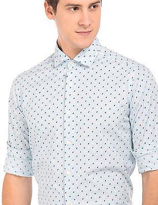 Nautica French Placket Printed Shirt