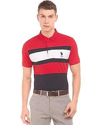 66ca3128 Buy Men Colour Block Slim Fit Polo Shirt online at NNNOW.com