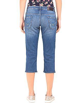 U.S. Polo Assn. Women Lightly Distressed Capri Jeans