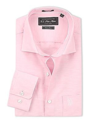 USPA Tailored French Placket Cotton Linen Shirt