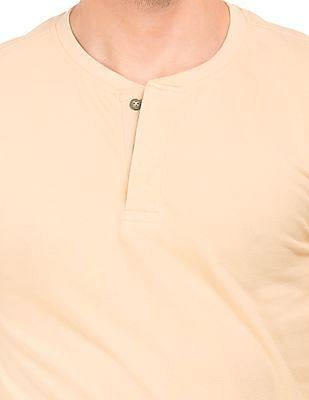 Cherokee Long Sleeve Slim Fit Henley T-Shirt