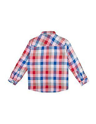Cherokee Boys Chest Pocket Check Shirt