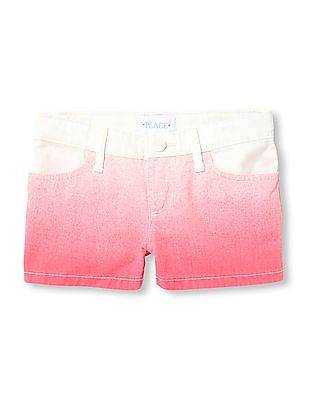 The Children's Place Girls Pink Dip Dyed Shorts