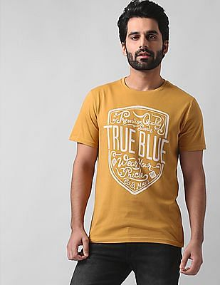 True Blue Slim Fit Crew Neck T-Shirt
