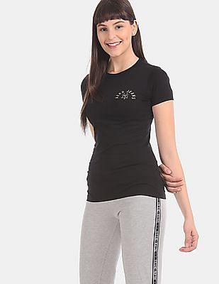 Aeropostale Black Crew Neck Logo T-Shirt