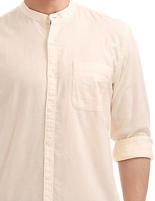 Ruggers Mandarin Collar Twill Shirt