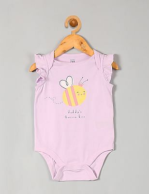 GAP Baby Flutter Sleeve Graphic Bodysuit
