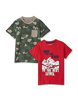 Cherokee Boys Crew Neck T-Shirt - Pack Of 2