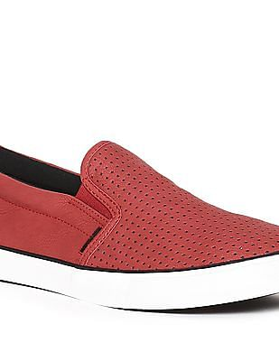 U.S. Polo Assn. Elasticized Gusset Textured Slip On Shoes