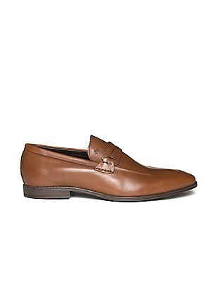 Arrow Leather Penny Loafers