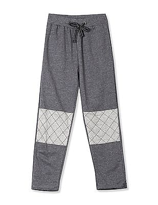 Cherokee Grey Boys Knee Patch Nep Track Pants