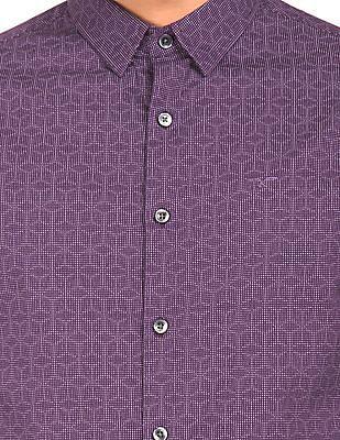 Flying Machine Dot Print Slim Fit Shirt