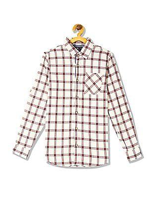 FM Boys Boys Long Sleeve Checked Shirt