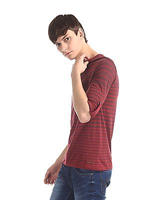 Cherokee Red Patch Pocket Striped Henley T-Shirt