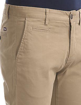 Arrow Sports Slim Fit Twill Trousers