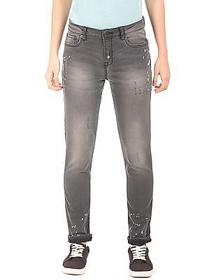 Aeropostale Mid Rise Distressed Jeans