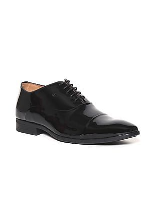 Arrow Black Patent Leather Oxford Shoes