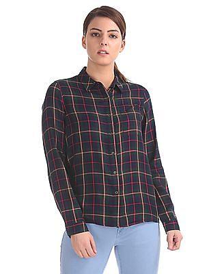 Cherokee Check Spread Collar Shirt