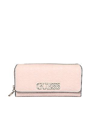 GUESS Brand Accent Embossed Wallet