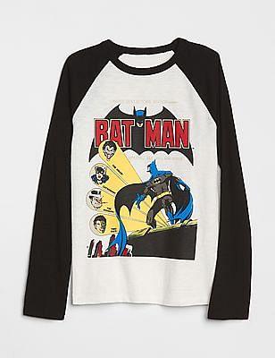 GAP Boys DC Printed Raglan T-Shirt