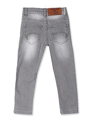 Cherokee Grey Boys Slim Fit Stone Wash Jeans
