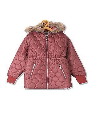 Cherokee Girls Quilted Hood Jacket