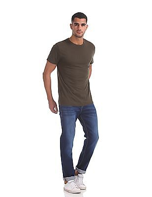 Flying Machine Django Straight Fit Whiskered Jeans