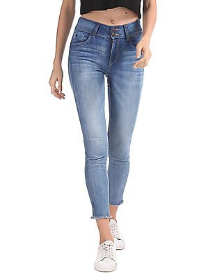 Flying Machine Women Twiggy Super Skinny Fit Stone Wash Jeans