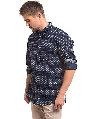 Nautica Slim Fit Anchor Print Shirt