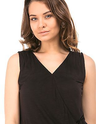 Cherokee Surplice Front Sleeveless Top