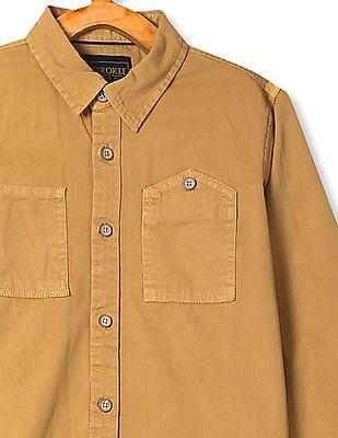 Cherokee Boys Solid Twill Shirt