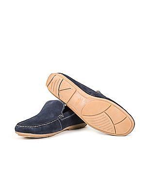 Arrow Sports Contrast Stitch Suede Loafers