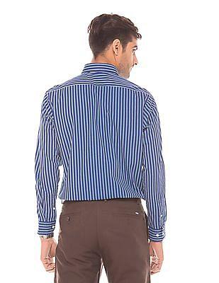 Arrow Sports Striped Slim Fit