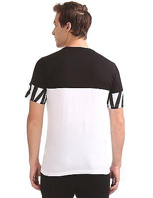 Colt Colour Blocked Printed T-Shirt