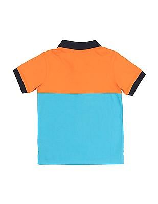 FM Boys Boys Colour Blocked Slim Fit Polo Shirt