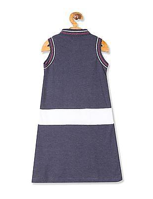 Cherokee Girls Colour Block Polo Dress