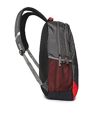 Flying Machine Printed Padded Backpack