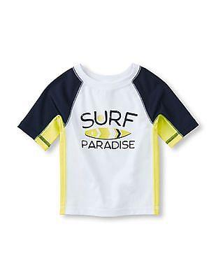 The Children's Place Toddler Boy Short Sleeve Pieced Raglan Surf Raglan
